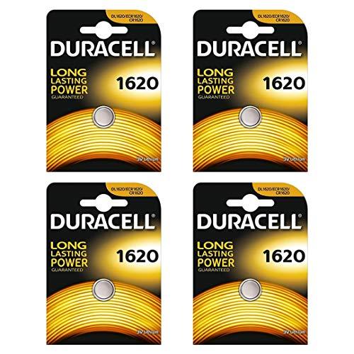 Duracell CR1620 Knopfzelle, Lithium, 3V, in Klarsichtpackung, 4Stück