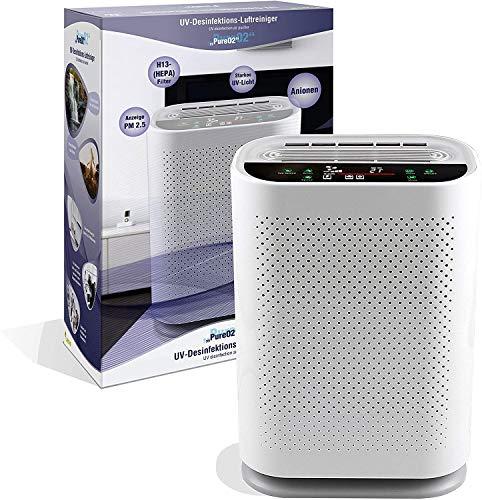 LEICKE Pure O² Purificatore d'aria con lampada UV, tecnologia a doppio flusso d'aria, contro allergeni, odori, per purificare l'aria della stanza