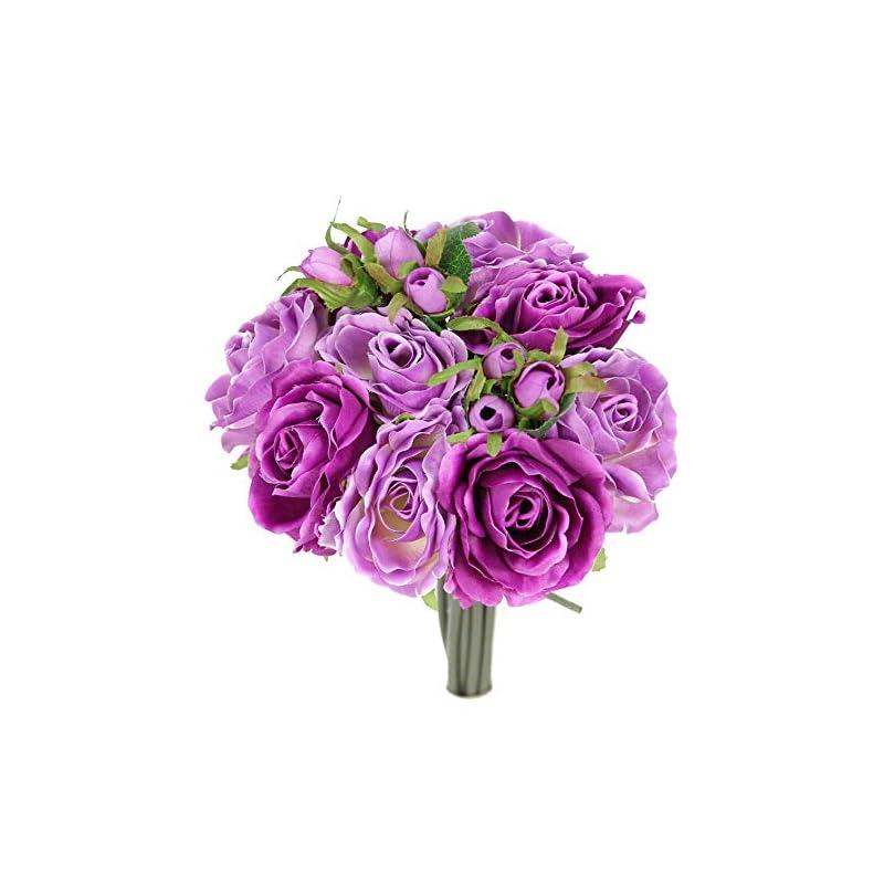 silk flower arrangements jenlyfavors rose silk flower bouquet lilac mix