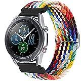 Harikiri Correa trenzada de 22 mm compatible con Samsung Galaxy Watch 3 45 mm /46 mm, pulsera elástica deportiva con hebilla ajustable para Samsung Gear S3 Frontie/Huawei Watch GT/GT2