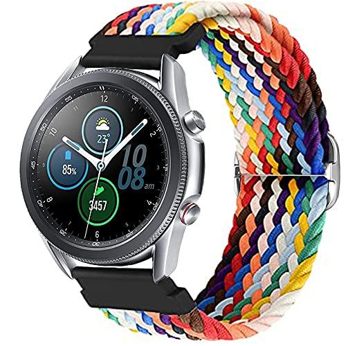 Harikiri Cinturino Intrecciato Solo 22mm Compatibile per Samsung Galaxy Watch 3 45mm/46mm, Cinturino Sportivo Elastico da Donna con Fibbia Regolabile per Samsung Gear S3 Frontier/Huawei Watch GT/GT2