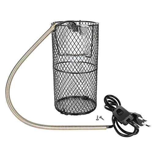 Fishawk Pantalla de Reptil, Pantalla de lámpara antiescarcha de Reptil de Carga USB de Metal Duradero, para Serpiente Lagarto Tortuga Mascota(Pink)