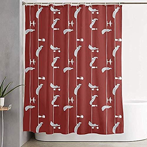 Relovsk douche gordijn pauw vogels patroon waterdicht polyester stof baddecoratie badkamer sets waterafstotend en milieuvriendelijk inclusief gratis haken