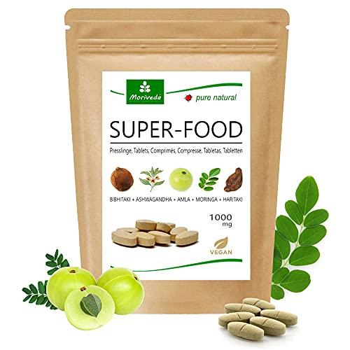MoriVeda® Superfood Compresse 1000mg | Miscela Moringa...