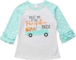 Toddler Baby Girls Blouse Halloween Long Sleeve Printed Ruffles T-Shirt Tops Clothes Outfits