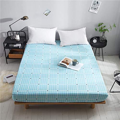 huyiming Verwendet für Bettwäsche Baumwolle Plaid einfarbig Matratzenschoner 1,8 m 120 * 200