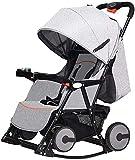 NOBRAND carrito de bebé plegable fácilmente de 0 a 3 años de edad, portátil para sentarse reclinable, silla mecedora variable