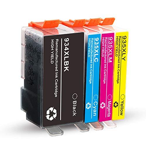 Cartucho de tinta 934XL 935XL, repuesto para impresora HP Officejet Pro 6230 6830 6835 6812 6815 6820 E-tout-en-un cartuchos de tinta compatibles con 4 colores