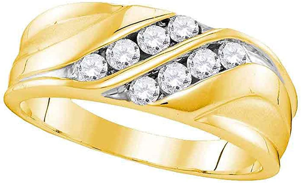 Dazzlingrock Collection Genuine Cheap mail order specialty store 10kt Yellow Gold Round Diamond Mens Wedd