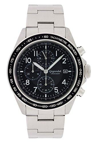 Gigandet Herren Uhr Chronograph Quarz mit Edelstahl Armband G24-005
