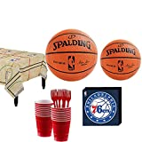 Party City Philadelphia 76ers Party Kit 16 Guests, Includes Table Cover, Plates, Napkins and More