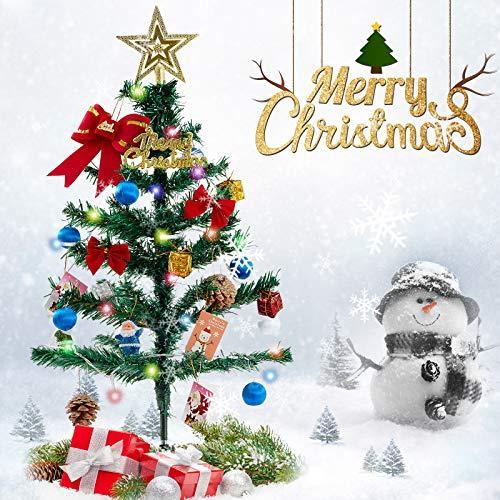 Freudlich Árbol de Navidad, Adornos creativos en Miniatura para Bricolaje, Fiesta de Festival, árbol de Navidad, Mesa, Escritorio, Decoraciones para Fiestas, 60 cm / 24 in