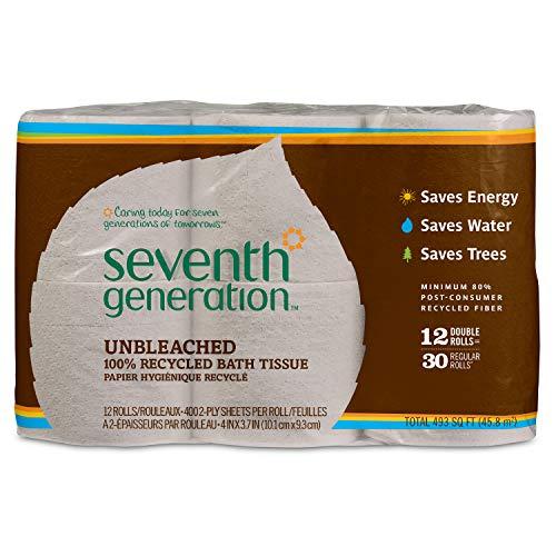 Seventh Generation Unbleached Bathroom Tissue Roll