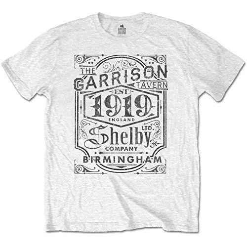 Peaky Blinders 'Garrison Pub' (White) T-Shirt (Large)