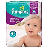 Pampers Active Fit Windeln Monatsbox, Gre 4+, 9-18kg, 140 Windeln