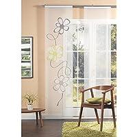 Home Fashion 87323-768 Panel japonés, diseño Estampado-Scherli, 245 x 60 cm, Verde
