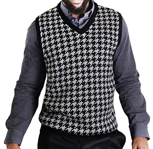 Houndstooth Sweaters Vest Men's