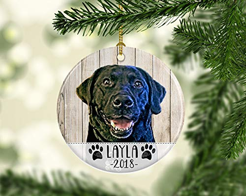 Georgia Barnard 3' Christmas Ornament, Dog Ornament with Illustrated Photo Pet Portrait Using Your...