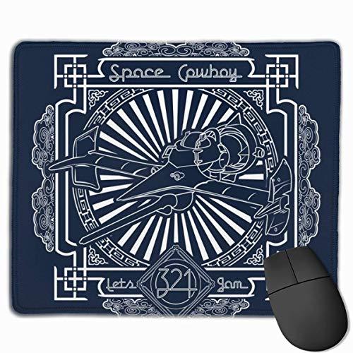 Mauspad Cowboy Bebop Space Cowboy Lässt Jam Desk Mousepad 11,8x9,8 Zoll rutschfeste Gummibasis, Tastatur Pad Matte für Computer/Laptop