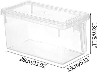 WLLOVE PP Transparent Boîte de Rangement Grain hermétiquement fermé, la Famille Boîte de Rangement de Cuisine Contenant à ...