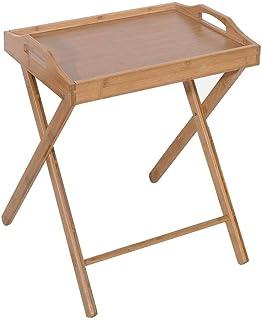 Table pliante en bambou, table de salle à manger pliante portable, table de salle à manger pour goûter, table à manger pou...