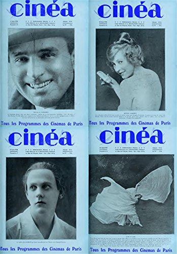 Cinea Magazine 1921 Juin. Tous les Programmes des Cinemas de Paris. 4 Issues (Classical french film magazines Book 1) (English Edition)
