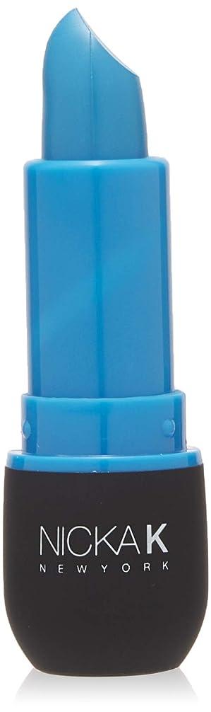 気付く慎重に光景NICKA K Vivid Matte Lipstick - NMS09 Slate Blue (並行輸入品)