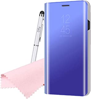 Dfly Case for Oppo A83, Mirror Flip Cover PU Leather [Smart Case] [Stand Case] [Full Body Protection] Translucent Slim Protective Cover, Sky Blue