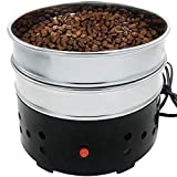 JIAWANSHUN 1.1lb Coffee Bean Cooler Electric Coffee Roasting Cooling Machine No scattered Chaff for Home Coffee Use (110V, black)