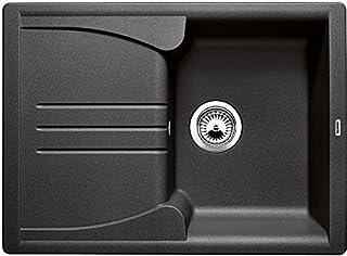 BLANCO Enos 40 S, Küchenspüle aus Silgranit, Anthrazit-schwarz, reversibel / mit 3 1/2 Korbventil - ohne Ablauffernbedienung 513799