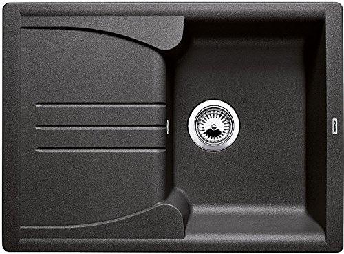 Blanco Enos 40 S, Küchenspüle aus Silgranit, Anthrazit-schwarz, reversibel / mit 3 1/2