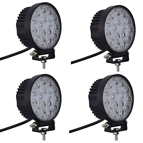 yunt IP67 étanche blanc froid 48 W 12–24 V offroads 16 rond LED pour voiture Feux de circulation diurnes conduite brouillard Jour Lampe Entrepôt locaux (Royaume-Uni)