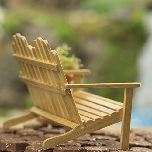 Oak Wood Double Adirondack Chairs for Fairy Gardens, Craft Displays and Creating