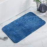 Alfombra Baño, KELOFO Antideslizante de Microfibra Alfombrilla Baño Lavable a Máquina Alfombrilla de Baño, 40 x 60 cm Azul
