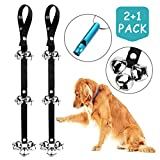 2 Pack Dog Doorbells Premium Quality Training Potty Great Dog Bells...