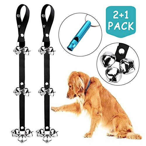 2 Pack Dog Doorbells Premium Quality Training Potty Great Dog Bells Adjustable Door Bell Dog Bells for Potty Training Your Puppy The Easy Way - Premium Quality - 7 Extra Large Loud 1.4 DoorBells