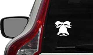Bell Ribbon Version 1 Car Vinyl Sticker Decal Bumper Sticker for Auto Cars Trucks Windshield Custom Walls Windows Ipad Macbook Laptop and More (WHITE)