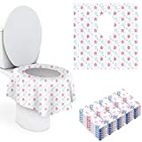 Toilet Seat Cover Disposable XL, 30 Pack Extra Large Full Cover Individually Wrapped Portable for Travel Perfect for Toddlers Potty Training Ideal for Adults and Kids (30Pack, Pentagonal)