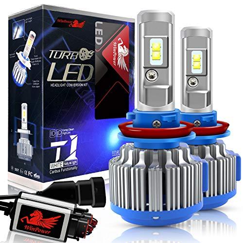 WinPower - H8/H9/H11 - Kits de conversion d'ampoules de phares à LED CREE avec Canbus - Blanc Xenon 70W 7200Lm 6000K - 2 Pièces