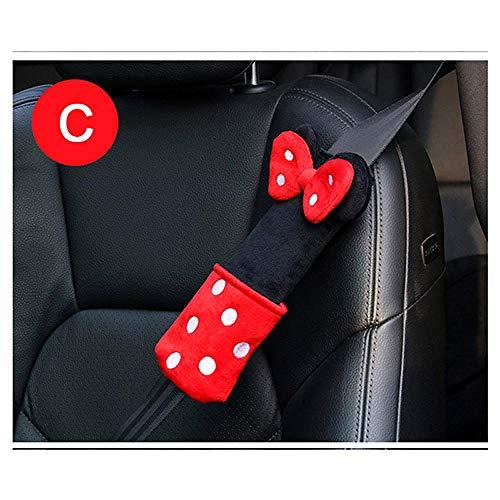 QXXKJDS 1 funda para cinturón de seguridad para coche, diseño de dibujos animados
