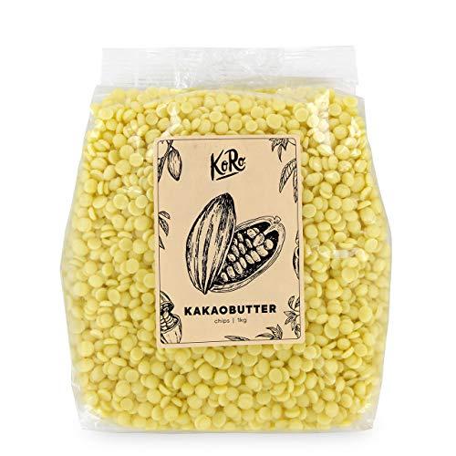 KoRo - Bio Kakaobutter Chips 1 kg - 100 % Naturprodukt - Qualitativ hochwertig ohne Zusätze