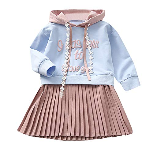 JERFER Black Friday limited deals Brief Mit Kapuze Prinzessin Kleid Kinder Baby Mädchen Sweatshirt Outfits Kleidung