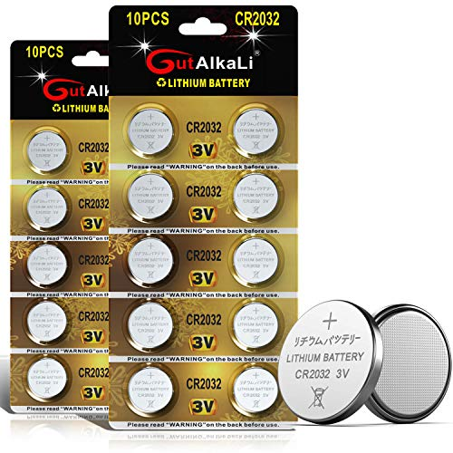 CR2032 Lithium 3V Battery, Electronic Coin Cell Button for Toys Calculators Watches(20 Pcs)