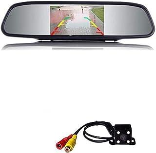 E-Kylin Wireless Car Auto 4.3 inch LCD TFT Rear View Mirror Mount Monitor + Universal Screw Mount Backup Camera Reverse Pa...