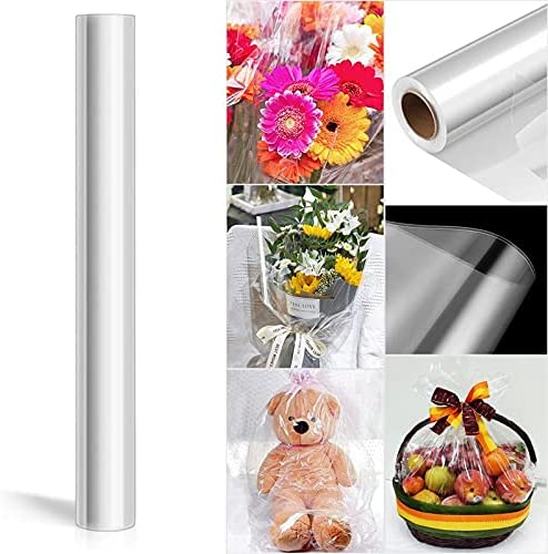 HARIKA 250x44cm Clear New product!! SEAL limited product Cellophane Wrapping Roll Transparent Wrap