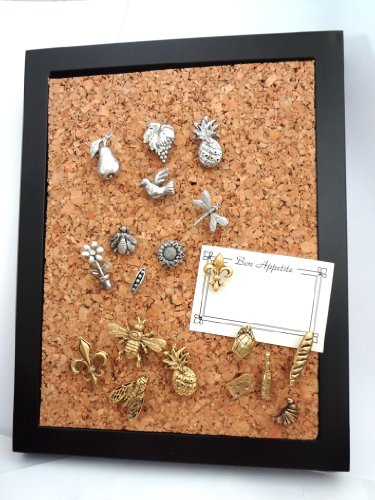 Fall Leaves and Acorn Metal Push Pins, Silver Finish, Solid Metal, 15 Pieces Photo #4