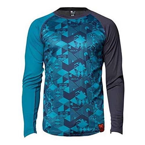 Bula Tiki Tech Crew T-shirt pour homme Bleu Taille XL