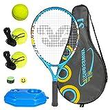 """*NOBRAND Joc de Raquetes de Tennis per a nens *Powcan 5 en 1 Raqueta de Tennis d'Alumini de 21""""amb 3 Pilotes de Tennis Entrenador de Tennis per a nens Kit d'iniciació per a Raquetes Júnior Edat 4-6"""