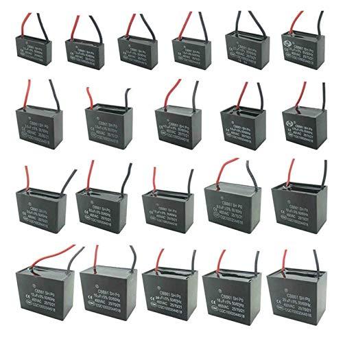 Jgzwlkj Condensadores CBB61 450 V 1UF ~ 6UF Terminal Terminal Ventilador de Techo Corriente Capacitador de rectángulo (Capacitance : 3.5uF)