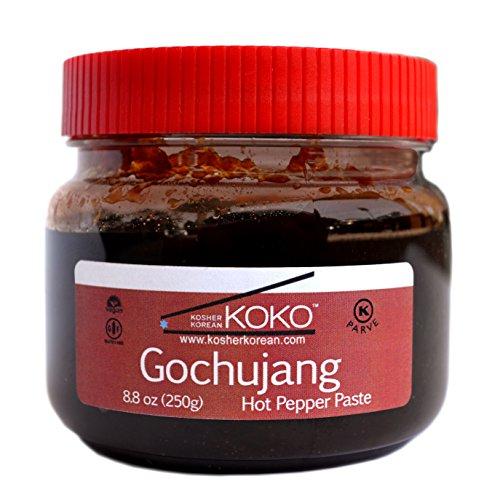Koko Gochujang (Fermented Hot Pepper Paste) 8.8oz(250g) - Certified Kosher Gochujang - Premium Gluten-free 100% Korean all Natural